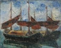 ships at chioggia by marius bunescu