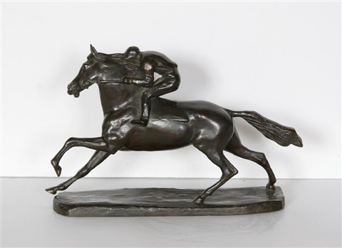 untitled horse and rider by john rattenbury skeaping