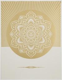obey lotus diamond (white & gold) by shepard fairey