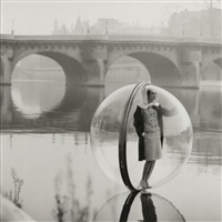 bubble, seine, paris by melvin sokolsky