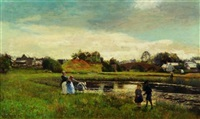 summer afternoon by the lily pond by sir david murray