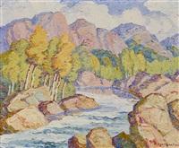 mountain stream by birger sandzen