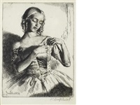 nadeja (+ 2 others; 3 works) by gerald leslie brockhurst