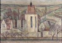 landschaft mit klosterkirche by helmut collmann