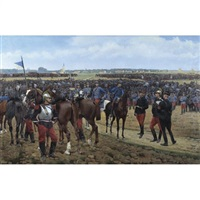 a division of cavalry by pierre petit-gérard