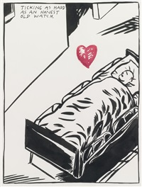 untitled (ticking as hard as an honest old watch) by raymond pettibon