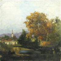 landscape from caransebes by corneliu baba