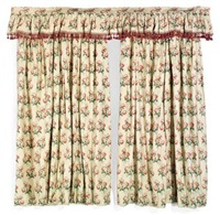 curtains (pair) (+ another, pair; 4 pieces) by colefax & fowler