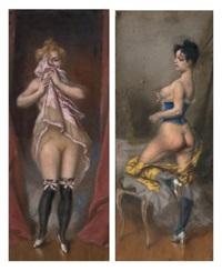 prostituées parisiennes (pair) by ladislaus bakalowicz