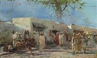 a market in tunis by eugenio cecconi