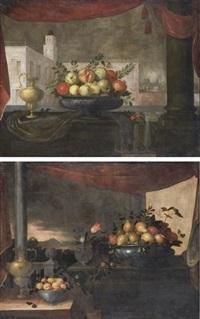 bodegon con jarra (+ frutero de plato; pair) by pedro de camprobin