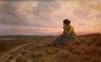 joven campesina en el campo by ventura alvarez sala