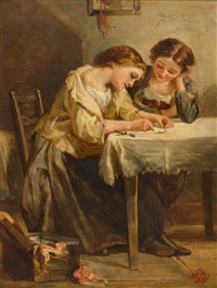 writing a letter by henry lejeune