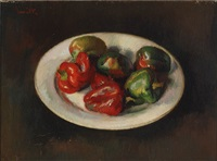 red and green peppers by gerhard arnold christiaan smith