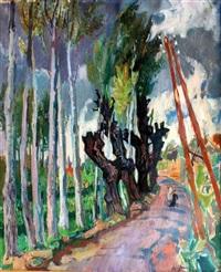 paysage de forêt animé by jean claude aujame