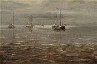 seascape by bartol wilhelm van laar