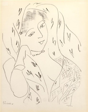 L 14 from matisse dessins themes et variations by henri - Coloriage matisse ...