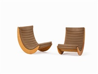pair of 'relaxer 2 chairs' by verner panton
