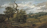 a view of hampstead heath looking towards cannon place by harriet arnold