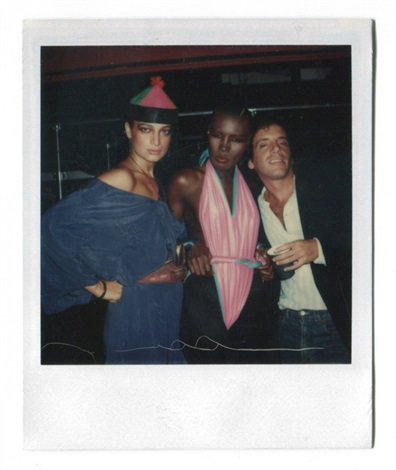 grace jones and steve rubell at studio 54 by andy warhol
