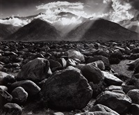 mount williamson, sierra nevada from manzanar, california by ansel adams