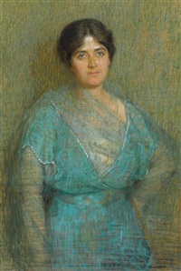 portrait in blue by florence rodway