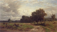 extensive landscape with cattle by william samuel jay