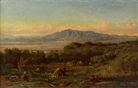 la campagne de rome by felix-hippolyte lanoue