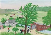 buskirk bridge by grandma moses