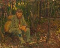 le mendiant du luxembourg by jules adler