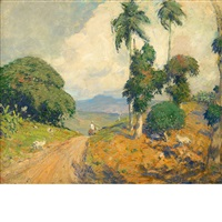 mountain road, puerto rico by hermann dudley murphy