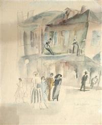 cuban street scene by jules pascin