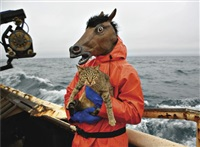 kitty and horse fisherman (from fish-work) by corey arnold