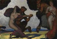 tanzende faune und nymphen by adolf frey-moock