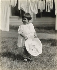 yvonne marie boursault, daughter of marie rapp boursault, at lake george by alfred stieglitz