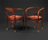 armchairs (pair) by otto wagner