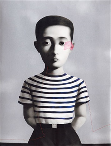 血缘系列 男孩 bloodline series:boy by zhang xiaogang
