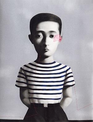 血缘系列 男孩 bloodline series:boy by zhang xiaogang