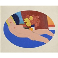 study for nude collage edition by tom wesselmann