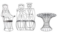 patio suite (set of 3) by john risley