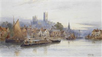 lincoln from the river witham by walter stuart lloyd