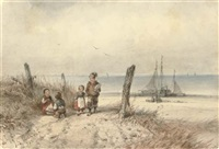 children on the beach by jan geerard smits
