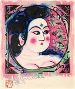 pink goddess by shiko munakata