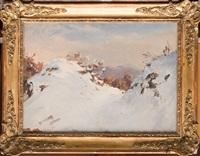 paysage de montagne sous la neige à satory près le désert by e. fontaine