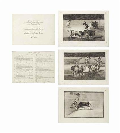 la tauromaquia treinta y tres estampas que representan diferentes suertes y actitudes del arte de lidiar los toros 33 works by francisco de goya