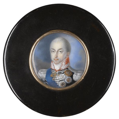 portrait of carlo felice king of sardinia by italian school piedmont 19