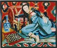 odalisque with a turkish chair, after henri matisse (from pictures of pigment) by vik muniz
