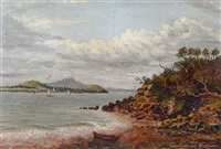 auckland harbour, north head & rangitoto by albert edward aldis