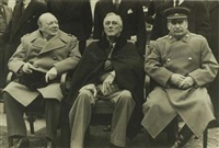 churchill, roosevelt and stalin at yalta by samarly gurarly