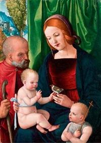 vierge à l'enfant avec joseph et saint jean-baptiste by giovan battista benvenuti